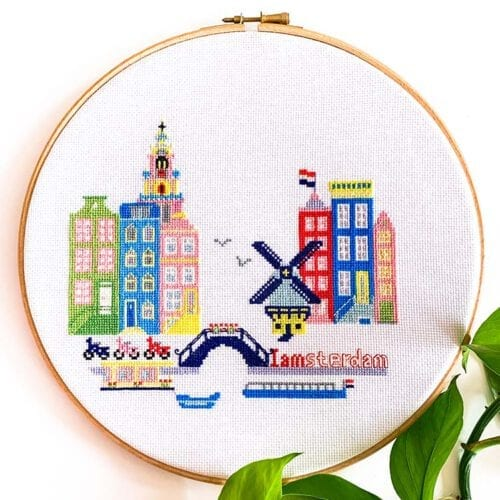 Amsterdam cross stitch kit