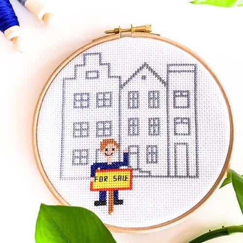 Real Estate Agent cross stitch kit