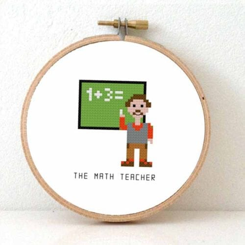 mathmatics teacher cross stitch pattern
