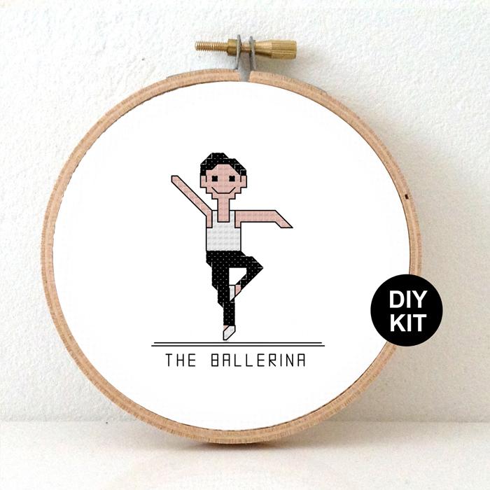 Ballerina male cross stitch kit