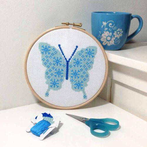 snowflake butterfly cross stitch pattern