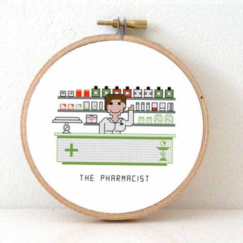 pharmacist female cross stitch pattern