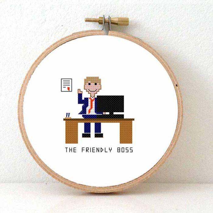 male friendly boss cross stitch pattern