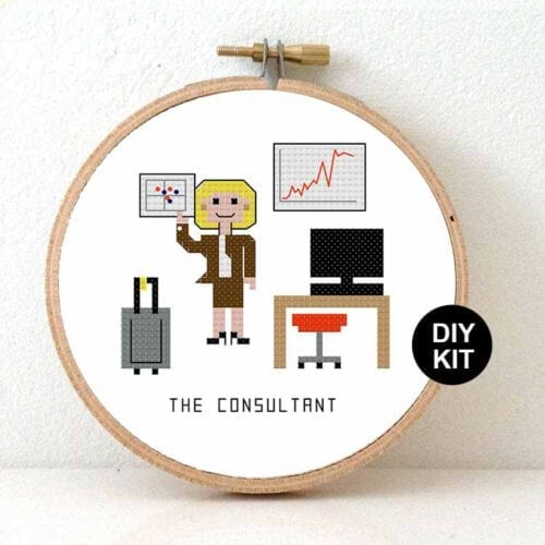 Cross Stitch Kit female Consultant