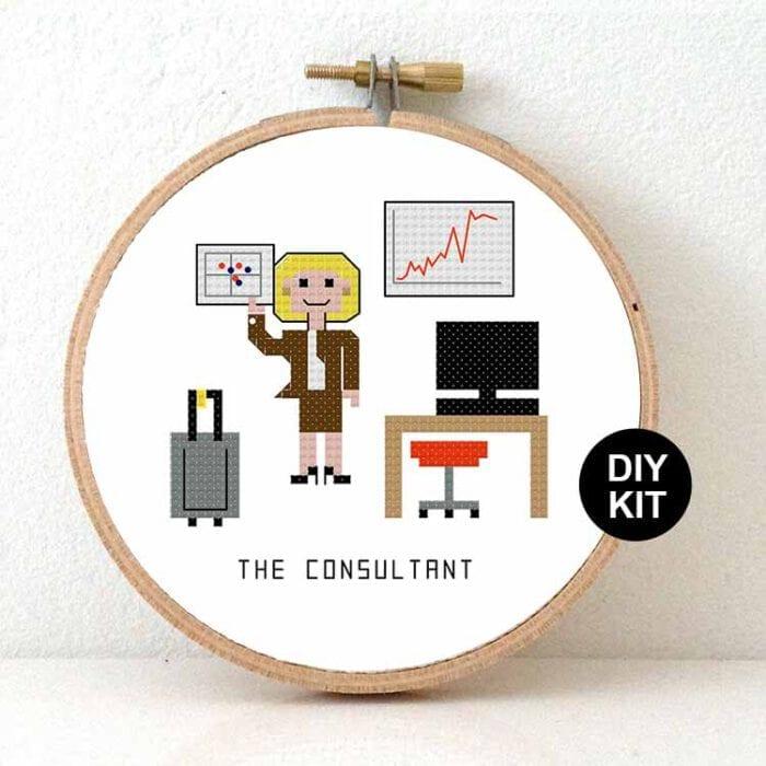 Cross Stitch Kit female Consultant