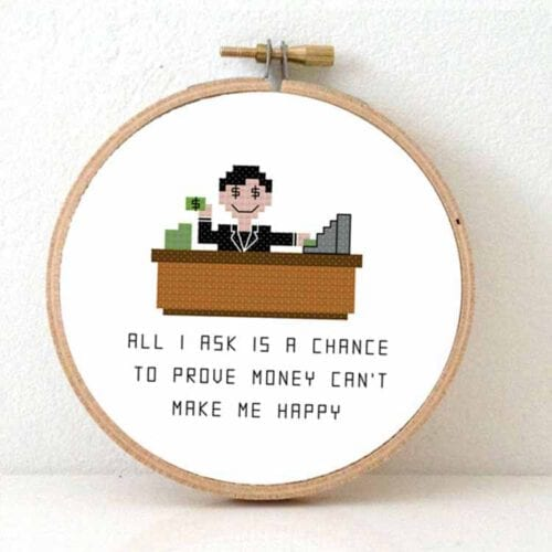 banker cross stitch pattern