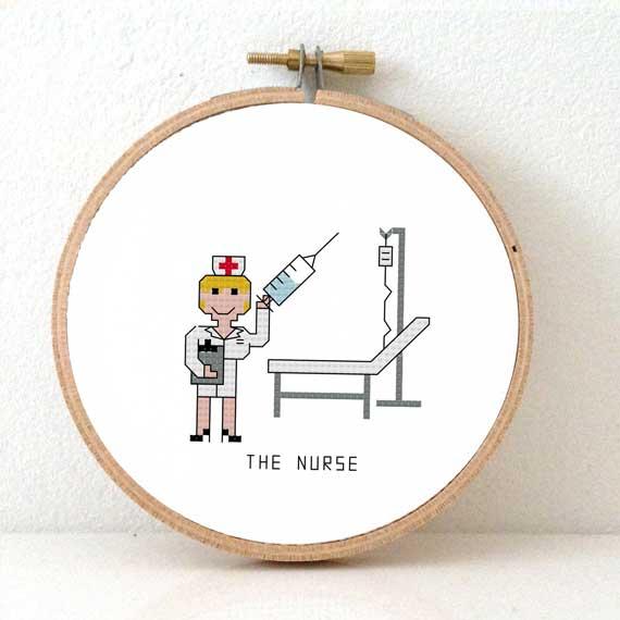 male nurse cross stitch pattern