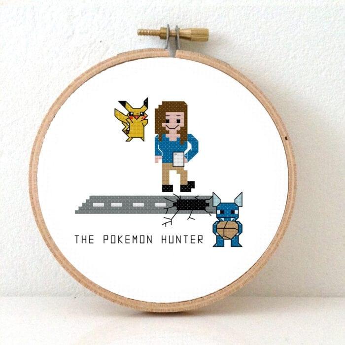 pokemon hunter cross stitch pattern