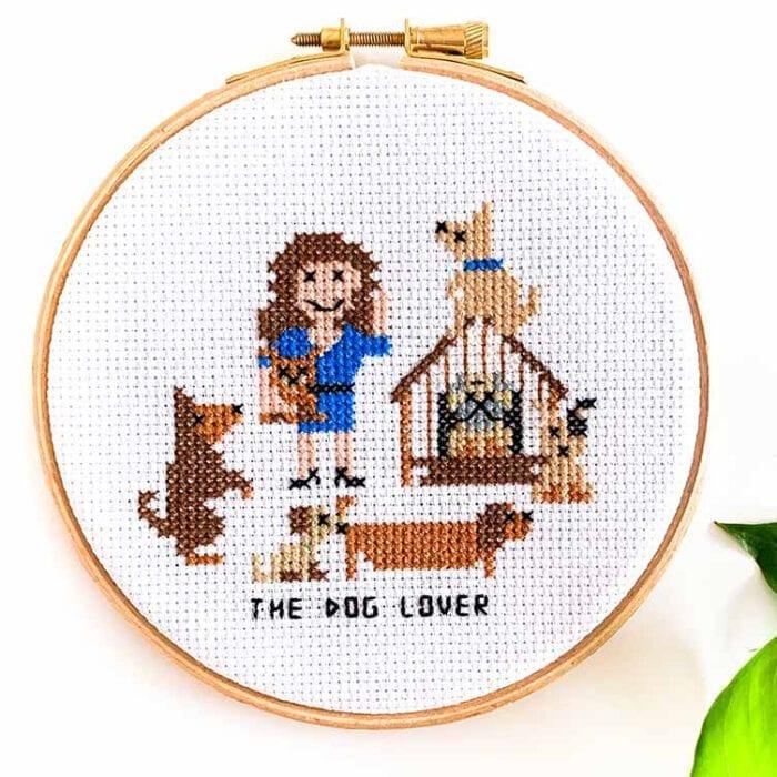 dog lover cross stitch kit