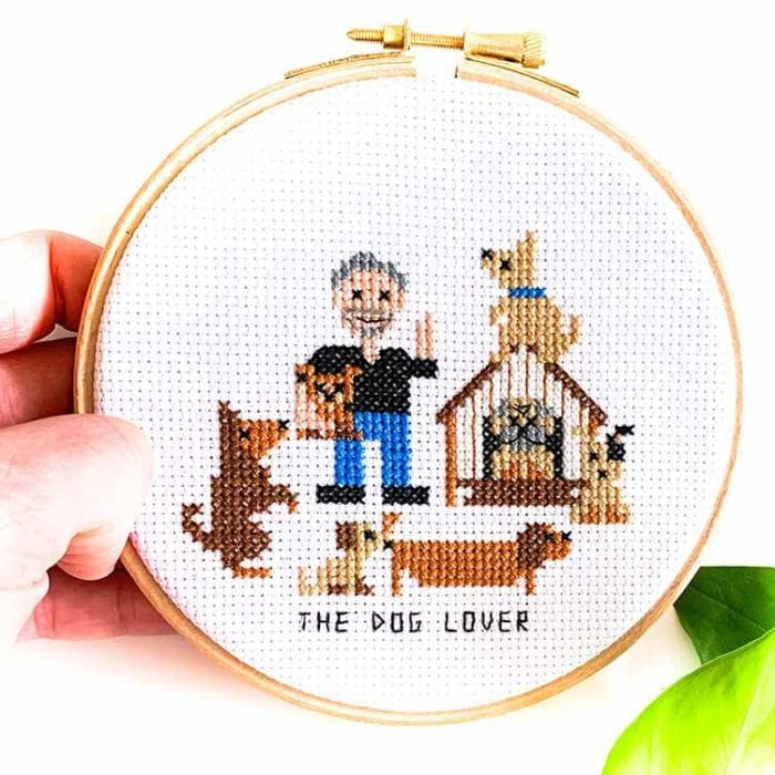 Dog Lover cross stitch kit