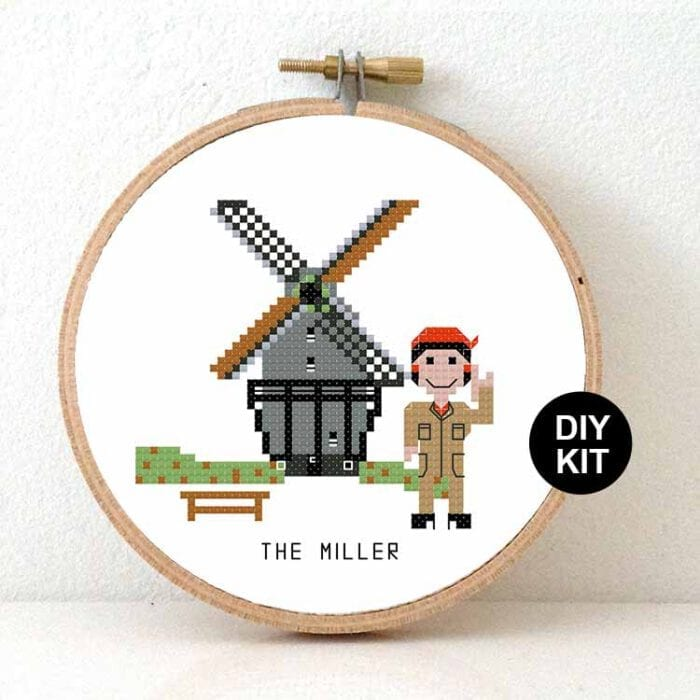 female miller cross stitch kit