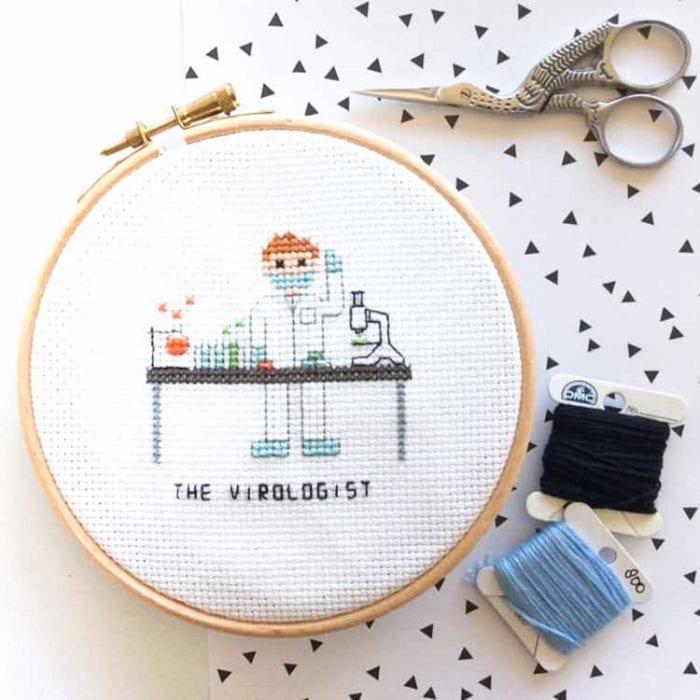 DIY gift for virologist cross stitch pattern