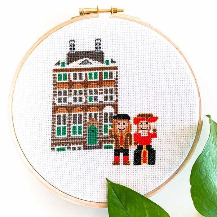 rembrandthuis cross stitch kit