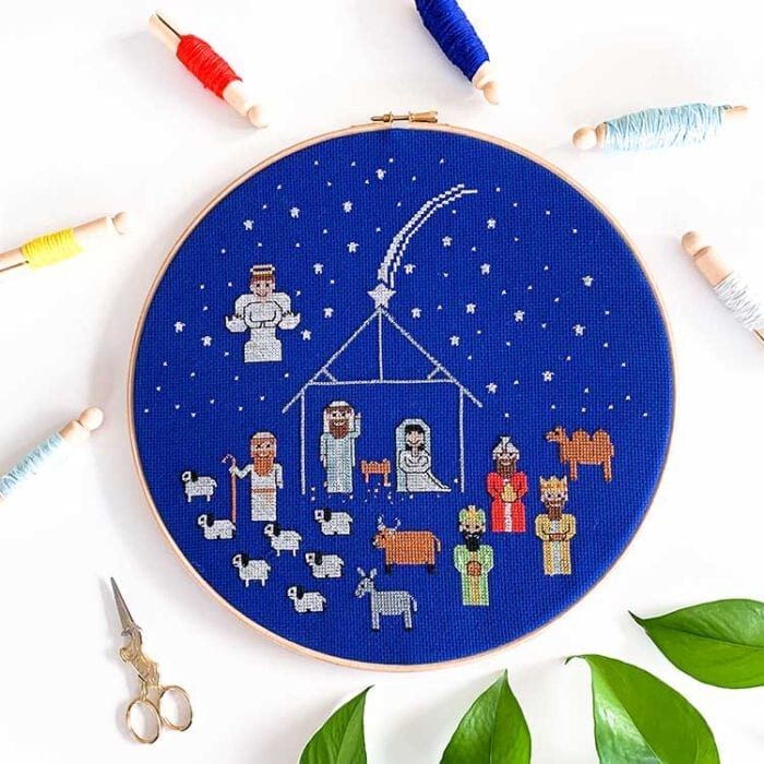 Christmas nativity cross stitch kit