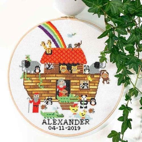 ark of noah cross stitch kit