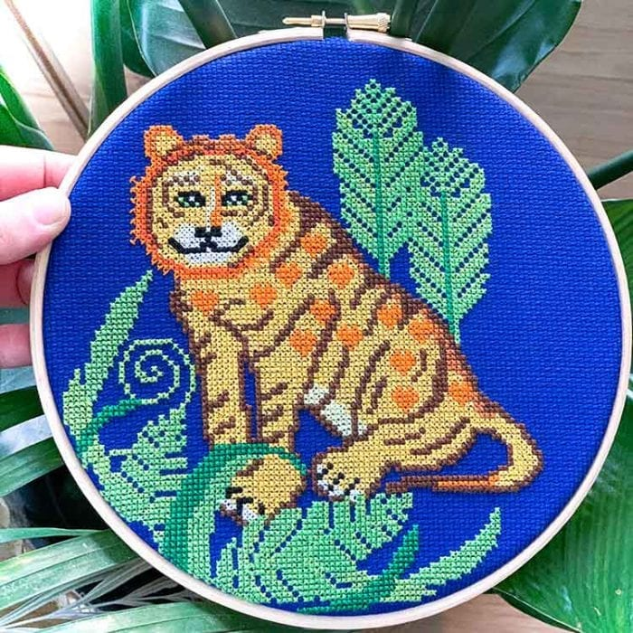 Tiger Cross Stitch kit for beginners
