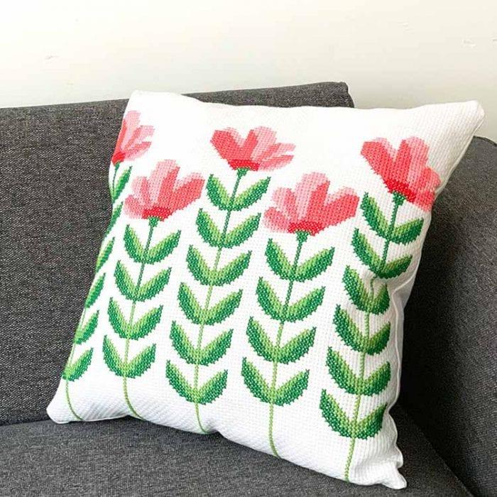 Spring Flower Cushion cross stitch kit