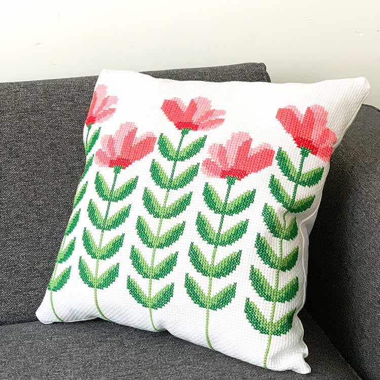 Spring Flower Cushion cross stitch kit