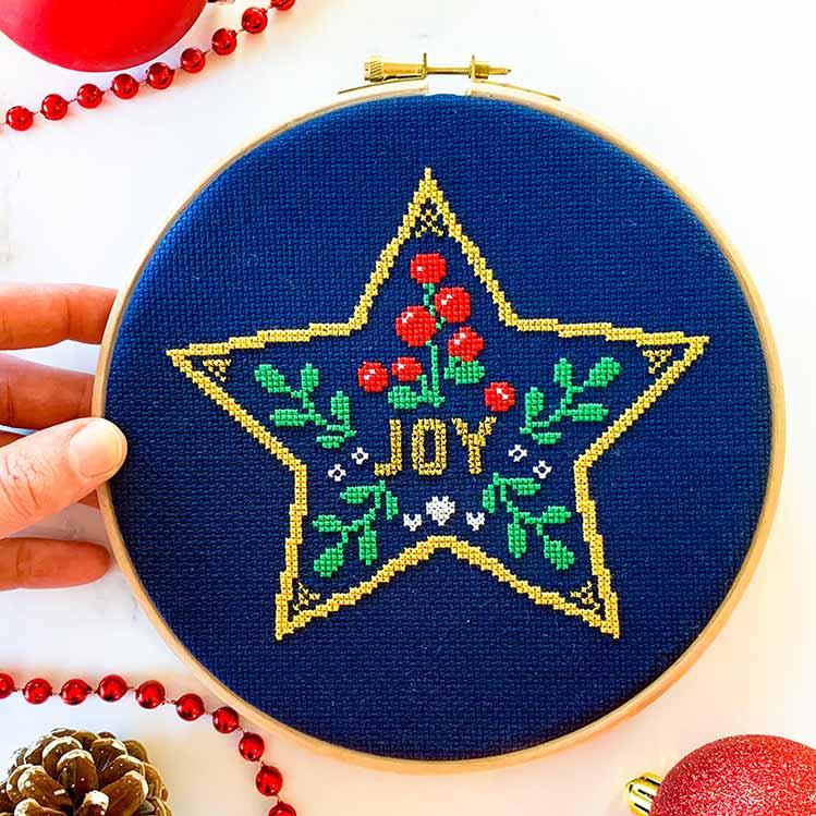 Joy christmas cross stitch kit