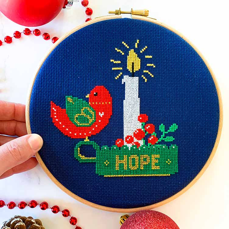 Hope christmas cross stitch kit