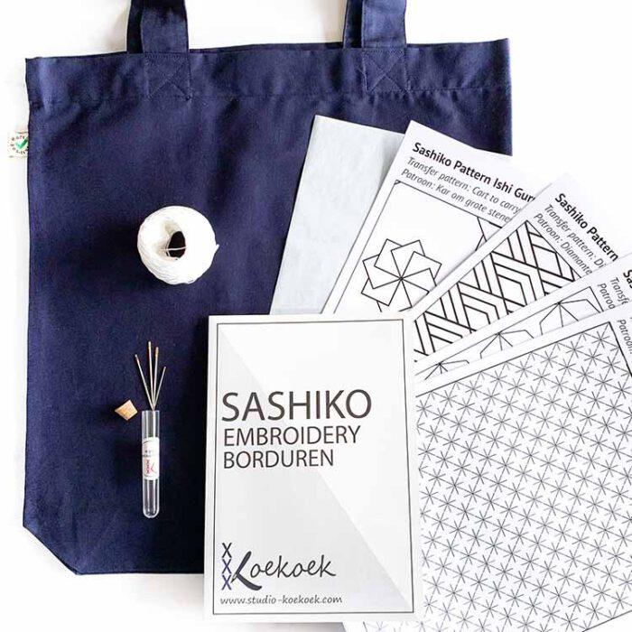 sashiko bag kit for beginners