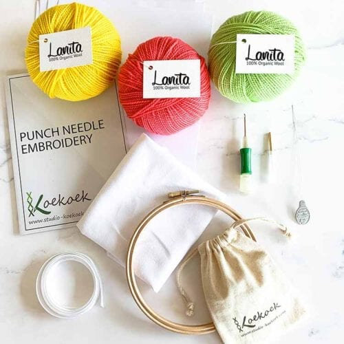 punch needle kit clover punch needle color bomb