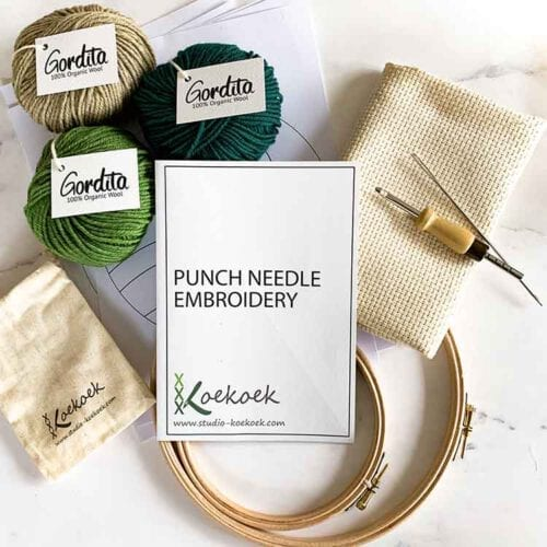 adjustable punch needle kit for beginners with instructions
