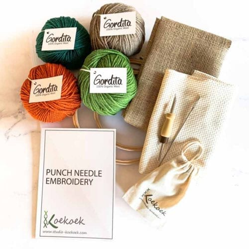 green large punch needle kit adjustable punch needle for beginners