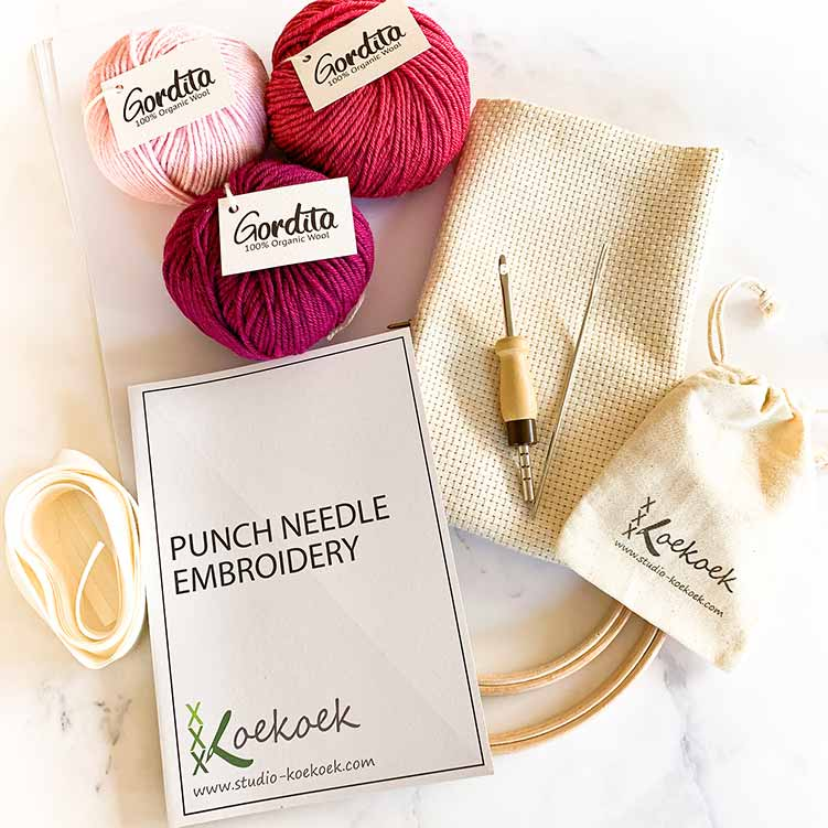 pink lover adjustable punch needle kit starter