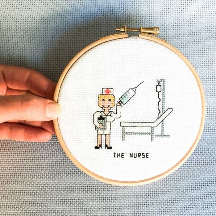 nurse cross stitch pattern