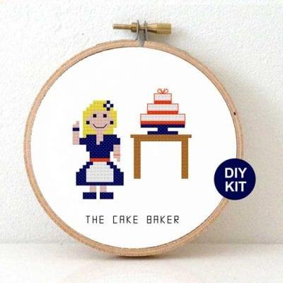 Cake Baker Cross Stitch Kit