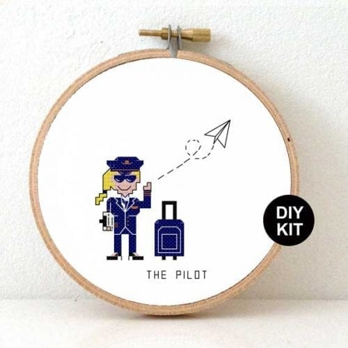 Cross Stitch Kit Pilot