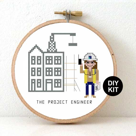 Cross Stitch Kit Female Project Engineer Gift