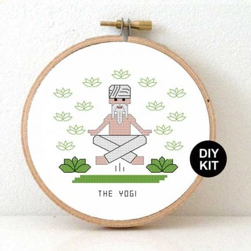 Cross Stitch Kit Yogi