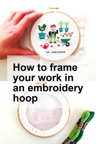 How to frame your embroidery work cross stitch tutorial how to frame your cross stitch project in an embroidery hoop