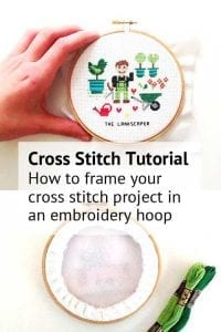 how to frame your cross stitch in an embroidery hoop instructions
