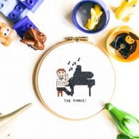 pianist cross stitch pattern