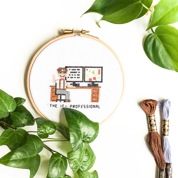 it professional cross stitch pattern