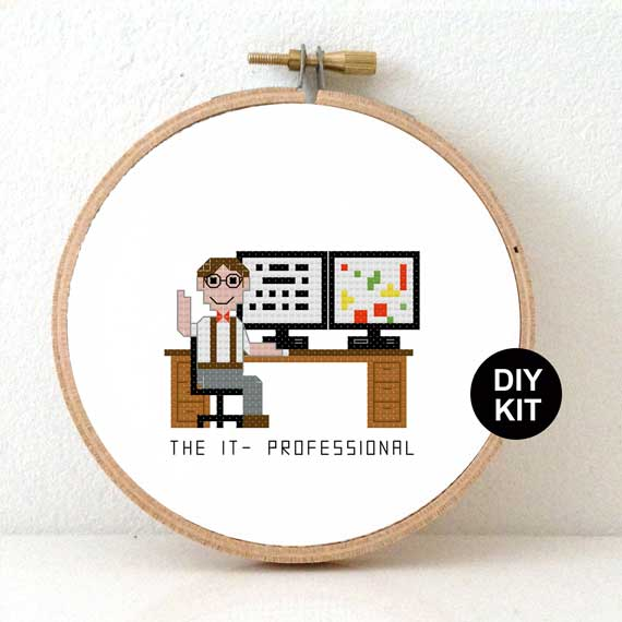 Cross stitch kit IT professional