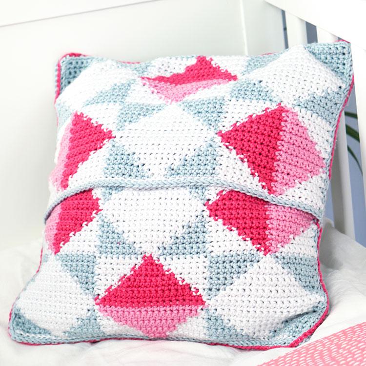 intarsia crochet cushion tutorial
