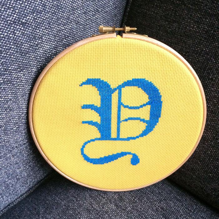 free alphabet cross stitch pattern easy monogram cross stitch