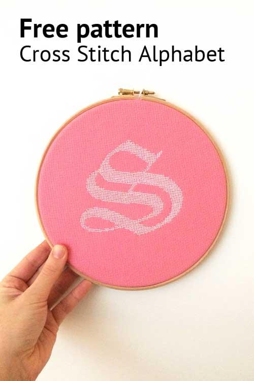free alphabet cross stitch pattern