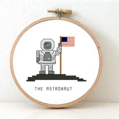 Astronaut Cross stitch pattern