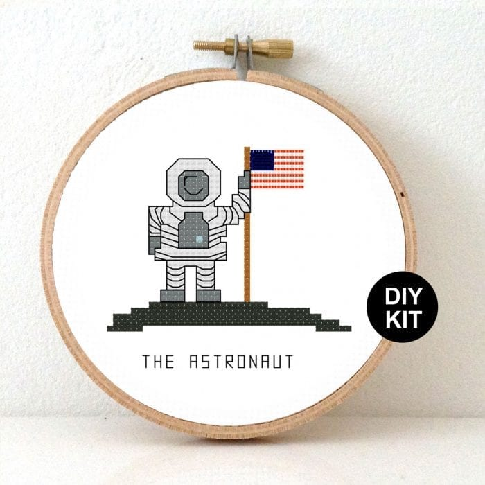 Astronaut Cross stitch Kit