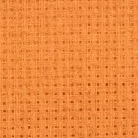 Aida 14 count bright orange cross stitch fabric - aida 14 orange