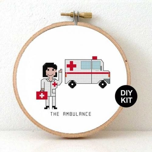 Ambulance Cross Stitch Kit