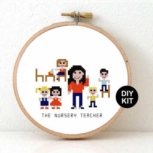 DIY Gift Female Nursery Teacher cross stitch kit