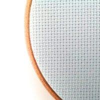 touch of blue aida cross stitch fabric