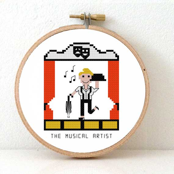 DIY Gift for Musical Artist Cross Stitch Kit