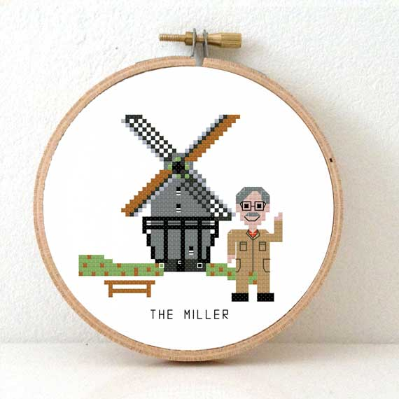 DIY gift for miller cross stitch pattern DIY gift miller cross stitch kit